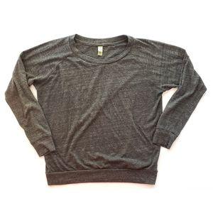Alternative Earth Womens T-Shirt Gray Heathered XL